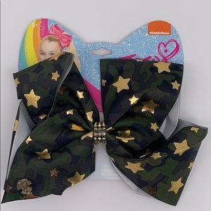 NWT JOJO Siwa Large Cheer Bow (green camo stars)